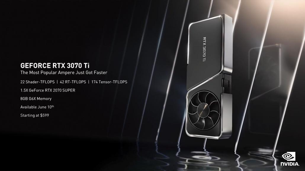 La tarjeta gráfica NVIDIA GeForce RTX 3070 Ti de 8 GB también se desata, más rápido que la RX 6800 XT por $ 599 US