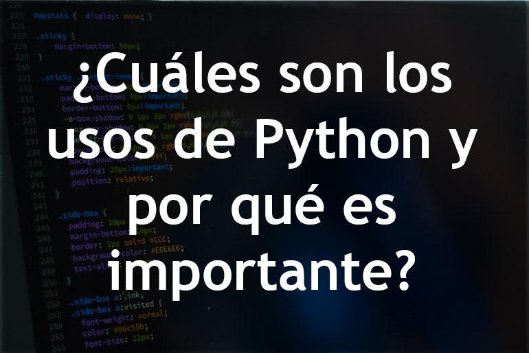 ¿Cuáles son los usos de Python y por qué es importante?
